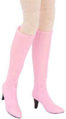 【クリックで詳細表示】1/6スケールドール汎用 ロングブーツ2(ピンク)(ドール用衣装)[キューティーズ]《在庫切れ》ロングブーツ コレクション