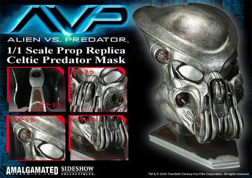エイリアンVSプレデター セルティック・プレデター マスク プロップレプリカ 単品[サイドショウ]【同梱不可】《在庫切れ》AVP - 1/ 1 Scale Prop Replica: Celtic Predator Mask