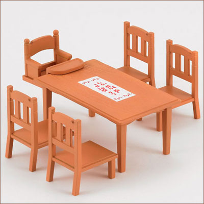 Amiami character hobby shop sylvanian families for Best dining tables for families