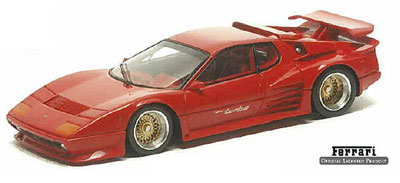 【クリックでお店のこの商品のページへ】1/43 ハンドメイドモデルカー ケーニッヒ フェラーリ 512BBi ターボ(BBSホイール) レッド[アイドロン]《在庫切れ》