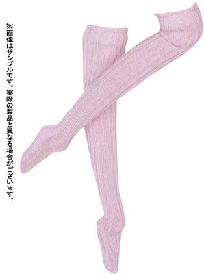 【クリックでお店のこの商品のページへ】27cm ベーシックセレクション オーバーニーリブソックス ピンク(ドール用衣装)[アゾン]《在庫切れ》