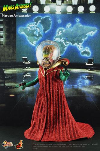 【クリックで詳細表示】ムービー・マスターピース マーズ・アタック! 1/6スケールフィギュア 火星人大使 単品[ホットトイズ]《在庫切れ》Movie Masterpiece - 1/6 Scale Fully Poseable Figure: Mars Attacks! - Martian Ambassador