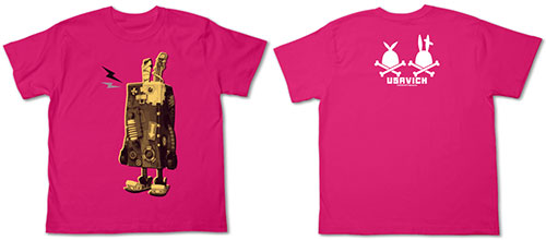 【クリックでお店のこの商品のページへ】ウサビッチ メカネンコTシャツ/トロピカルピンク-XS[コスパ]《在庫切れ》