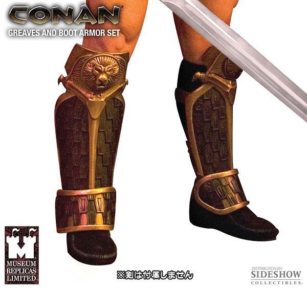 【クリックで詳細表示】エイジ・オブ・コナン すね当て&ブーツアーマー プロップレプリカ セット(同梱不可品)[ミュージアムレプリカ]《在庫切れ》Age of Conan - Prop Replica: Greaves & Boot Armor Set