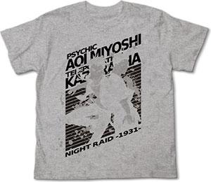 閃光のナイトレイド 葵&葛Tシャツ/ミックスグレイ-M[コスパ]《在庫切れ》