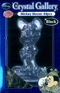 立体パズル クリスタルギャラリー ミッキーマウス 単品(ブラック)[ハナヤマ]《在庫切れ》