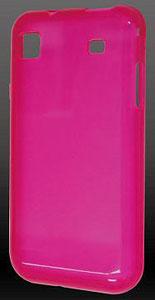 GALAXY S(SC-02B)専用ソフトクリアジャケット ピンク/ GSS-07PK[グルマンディーズ]《在庫切れ》