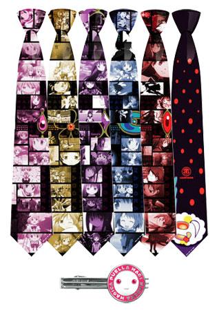 魔法少女まどか☆マギカ ネクタイ 全キャラセット 「キュゥべえ」タイピン付き