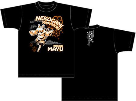 猫神やおよろず Tシャツ 繭柄/ブラック-M[ACG]《予約商品09月発売》