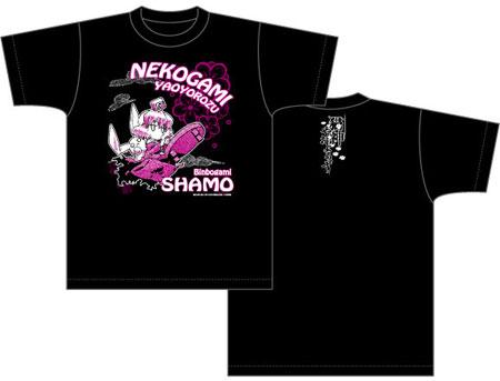 猫神やおよろず Tシャツ しゃも柄/ブラック-M[ACG]《予約商品09月発売》