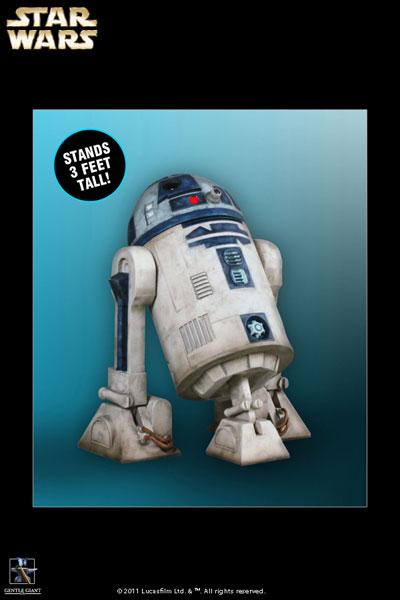 スター・ウォーズ 等身大モニュメント R2-D2(クローン・ウォーズ版) 単品【同梱不可】[ジェントル・ジャイアント]《在庫切れ》