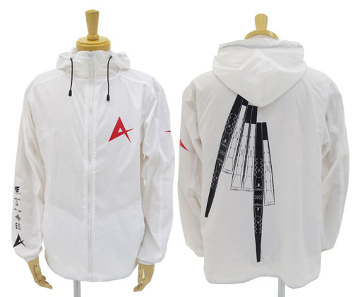 "Mobile Suit Gundam: Char's Counterattack ν Gundam Hooded Windbreaker / White -M (Resale) [Cospa] ""November reservation"""