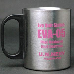 【クリックで詳細表示】EVA&LOGOS 2重構造ステンレスBIGマグ エヴァパイロットVer. 真希波・マリ・イラストリアス:EVA-05[永知]《在庫切れ》