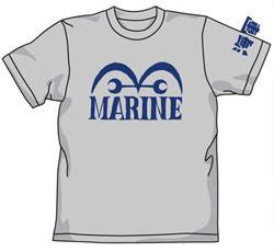 【クリックでお店のこの商品のページへ】From TV animation ワンピース 海軍Tシャツ/ミックスグレー-M(再販)[コスパ]《在庫切れ》
