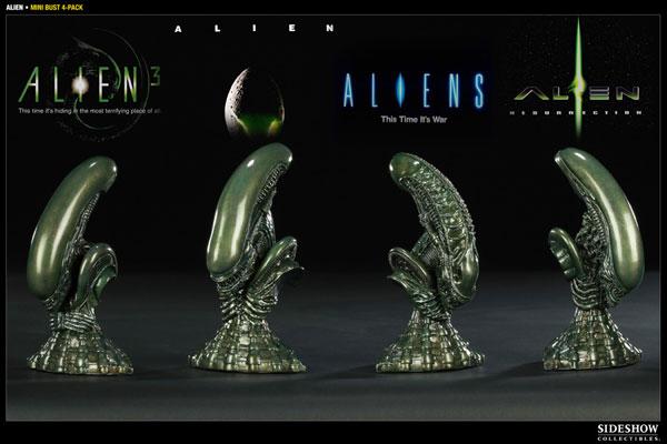 【クリックで詳細表示】エイリアンシリーズ 1/8スケール バスト セット[サイドショウ]《在庫切れ》Alien - Scaled Replica: Alien Bust Set