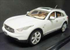 【クリックで詳細表示】完成レジンモデル 1/43 INFINITI FX50 ムーンライトホワイト 2009[WIT'S]《在庫切れ》