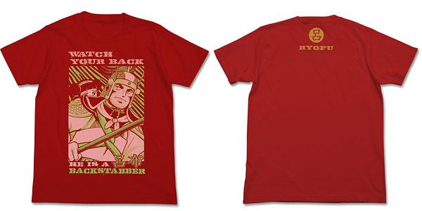 三国志 呂布奉先Tシャツ/レッド-XL