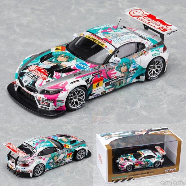レジン製ミニカー 1/43 Racingミク 初音ミク GOODSMILE BMW Z4 2011 FUJI優勝 Ver.[グッドスマイルレーシング]《在庫切れ》