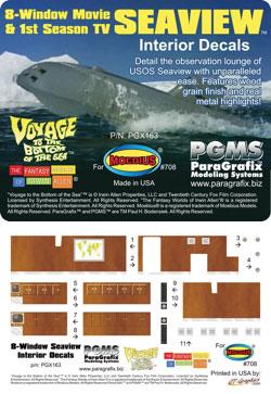 メビウスモデル 1/128 原子力潜水艦シービュー号用 インテリアデカールセット[パラグラフィックス]《在庫切れ》