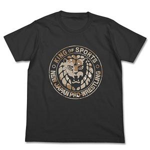 新日本プロレスリング ライオンマーク砂漠迷彩Tシャツ/スミ-XL