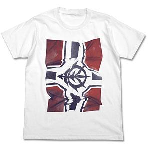 機動戦士ガンダム ジオン公国軍旗フォトプリントTシャツ/ホワイト-M