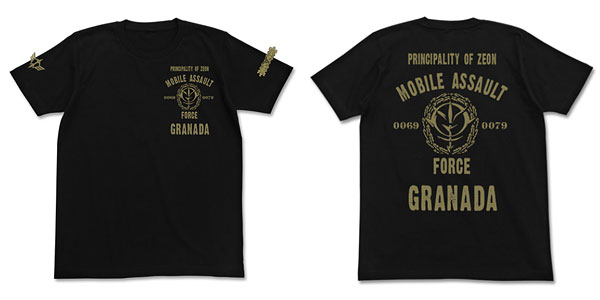 機動戦士ガンダム ジオン突撃機動軍Tシャツ/ブラック-L