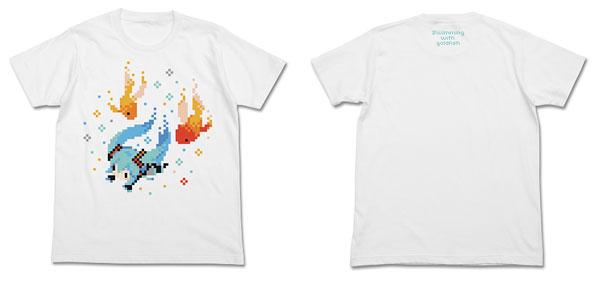初音ミク ぷちでびるver. 金魚Tシャツ/ホワイト-XL