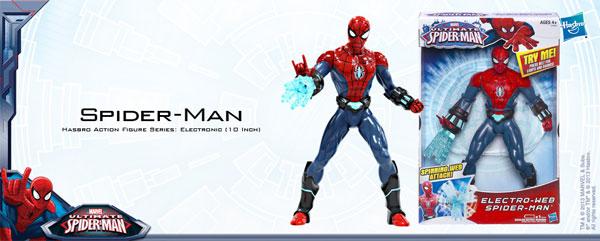 アルティメット・スパイダーマン ハズブロ アクションフィギュア 10インチ エレクトロニック スパイダーマン