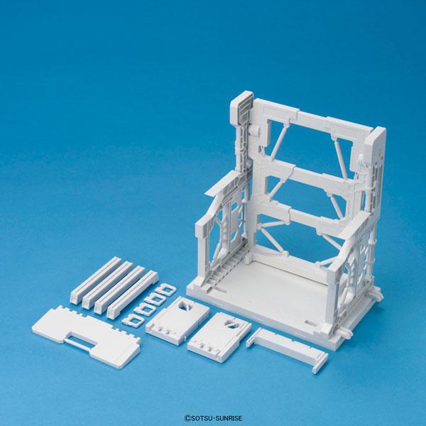 ビルダーズパーツ システムベース 001(ホワイト) プラモデル(再販)[バンダイ]《03月予約》