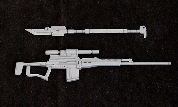 M.S.G モデリングサポートグッズ ウェポンユニット MW09R 薙刀・スナイパーライフル(再販)[コトブキヤ]《発売済・在庫品》