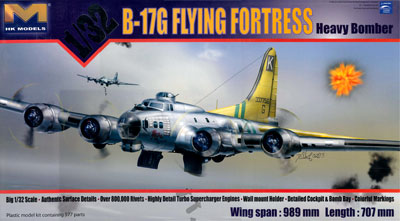 1/32 B-17G フライングフォートレス プラモデル[HK MODEL]【同梱不可】《在庫切れ》
