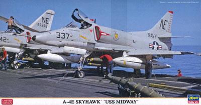 """1/48 A-4E スカイホーク""""USS ミッドウェイ"""" プラモデル[ハ...  画像ファイル名"""