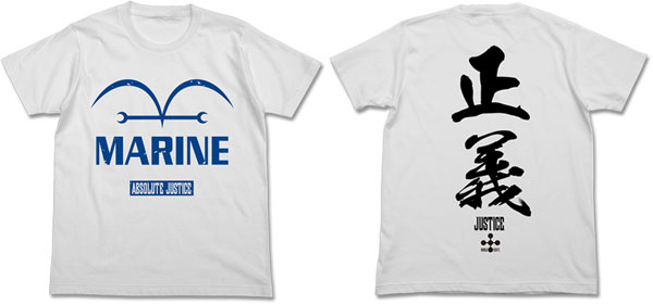 ワンピース 新世界編海軍 Tシャツ/ホワイト-XL アニメ・キャラクターグッズ新作情報・予約開始速報