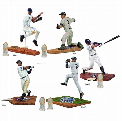 TMP/ MLB デレク・ジーター ワールドシリーズ: 5種セット[マクファーレントイズ]《在庫切れ》