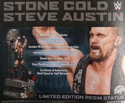 WWE/ ストーンコールド スティーブ・オースチン 23インチ スタチュー[マクファーレントイズ]《在庫切れ》