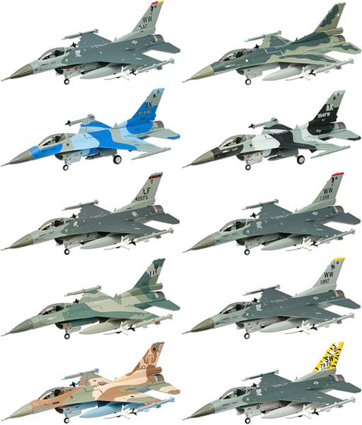ハイスペックシリーズ vol.1 1/144 F-16 ファイティングファルコン 10個入りBOX(再販)[エフトイズ]《在庫切れ》
