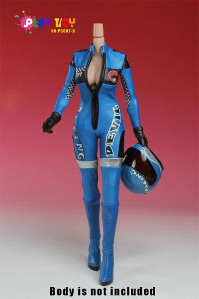1/6スケール コスチュームセット レーシングスーツ ブルー(PC002-B)[PLAY TOY]《在庫切れ》