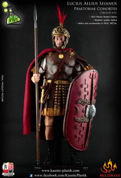 1/6スケール 古代ローマ親衛隊長官 セイヤヌス(KP08)[コースティック・プラスチック]【送料無料】《在庫切れ》