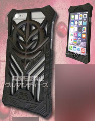 機動戦士ガンダム iPhone6対応スケルトンカバー ジオン・ブラック(GD-24BK)[グルマンディーズ]《04月予約》