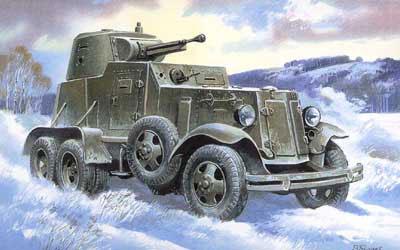 AmiAmi [Character & Hobby Shop] | 1/72 Russian BA-9 Armored ...