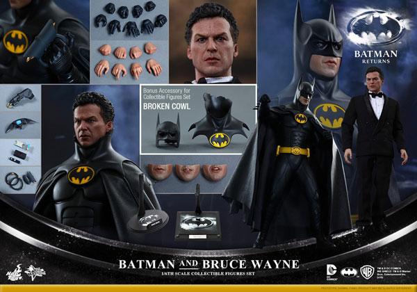 ムービー・マスターピース バットマン リターンズ 1/6 バットマン&ブルース・ウェイン(2体セット)[ホットトイズ]【送料無料】《在庫切れ》