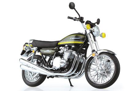 1/12 完成品バイク Kawasaki 900Super4(Z1)タイガー(再販)[スカイネット]《発売済・在庫品》