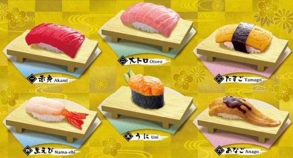 ぷちサンプル 特上にぎり寿司 6個入りBOX(食玩)