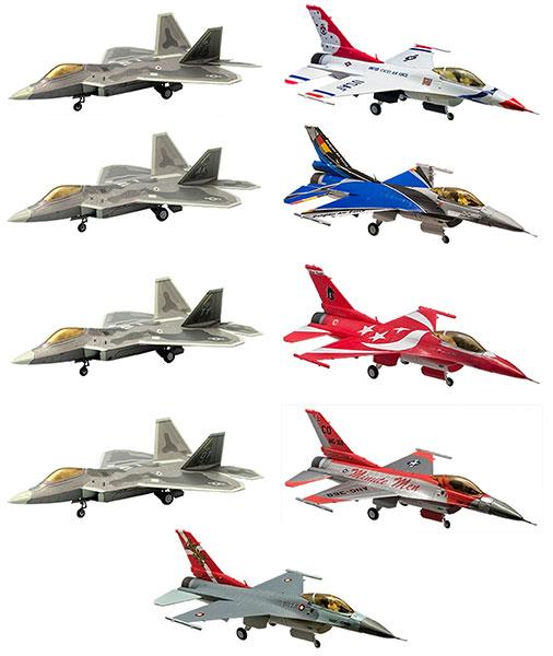 ハイスペックシリーズ vol.3 1/144 F-22 ラプター / F-16 ファイティングファルコン 10個入りBOX(再販)[エフトイズ]《取り寄せ※暫定》