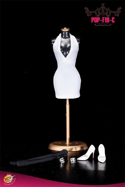 1/6スケール セクシーローカットホルタードレス コスチュームセット(F19C)(ドール用衣装)[POP Toys]《在庫切れ》