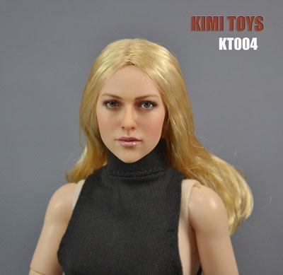 1/6スケール 植毛タイプ女性ヘッド(KT004)[KIMI TOYS]《在庫切れ》