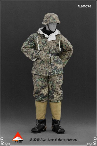 1/6 WWII ドイツ ナチ党 武装親衛隊(SS)&ドイツ国防軍スノーダブルサイド コットンパッドジャケットセット B(ドール用衣装)[Alert Line]《在庫切れ》