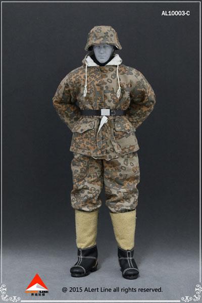 1/6 WWII ドイツ ナチ党 武装親衛隊(SS)&ドイツ国防軍スノーダブルサイド コットンパッドジャケットセット C(ドール用衣装)[Alert Line]《在庫切れ》