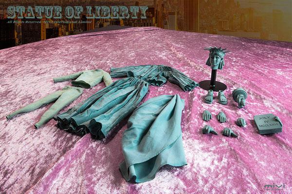 1/6スケールフィギュア用コスチュームセット:自由の女神像[MIVI]《在庫切れ》