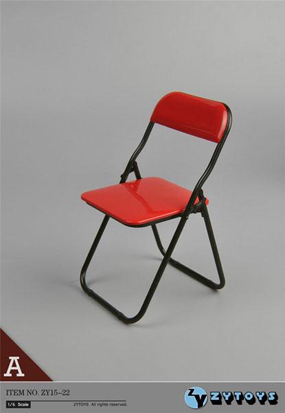 1/6 折りたたみ椅子 (レッド/ブラックフレームワーク)(ZY15-22A)[ZY-TOYS]《在庫切れ》